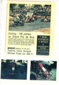Déjà lors des débuts en karting la presse suit JB EMERIC pendant ses aventures