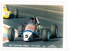 La Formule Ford Van Diemen 1 988 de l'école de pilotage Palmyr. JB finira meilleur pilote du Team en fin de saison.