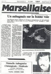 La Marseillaise un des média le plus suivi sur la région. Sponsor de JB EMERIC en 1 990 91 et 92.