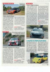 Les femmes aussi s'intéresse au sport automobile et le pratique. Ce journal en parle.