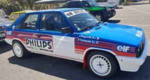 Une Renault 11 de collection et de course très bien restaurée.