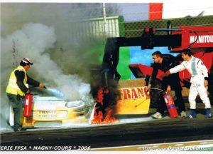 La Chevrolet Camaro en feu grâce à la préparation de Patrick Caldentey
