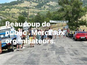 La course de côte de Barcelonnette est toujours bien suivie par les spectateurs.