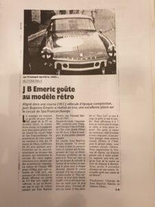 6 H de Spa Francorpchamps pour préparer les 2 tours d'horloge au circuit Paul Ricard.